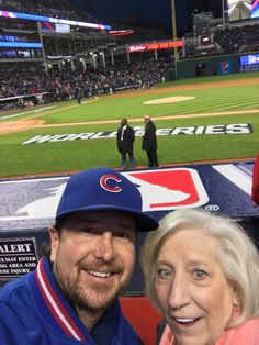 Kurt with his mom at game 2 of world series