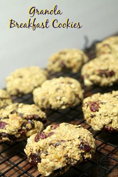 Wholesome and hearty Granola Breakfast Cookies make a quick and easy breakfast on the go. | www.realthekitchenandbeyond.com