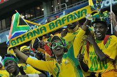 BAFANA BAFANA... The fans are legendary Netherlands, South Africa, Brazil, Pop Culture, Spain, Germany, Soccer, Fans, African