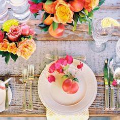 Bright and beautiful table via Martha Stewart