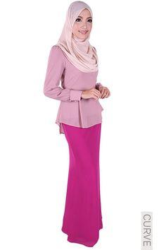 CURVE Juanita Mermaid Chiffon Skirt - Berry Purple