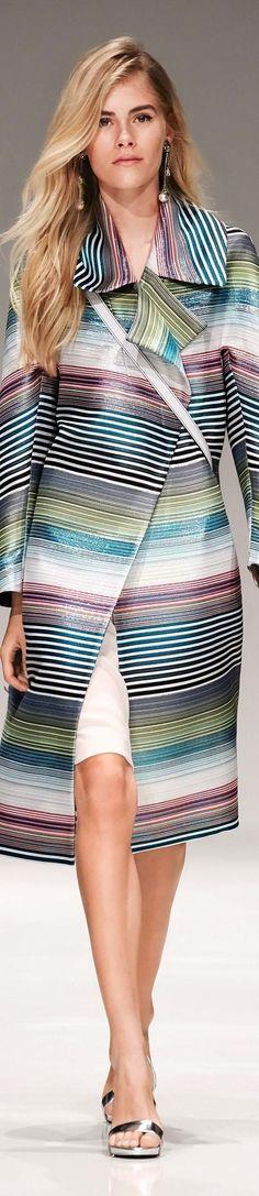 Escada - RESORT 2017 multicolored striped coat
