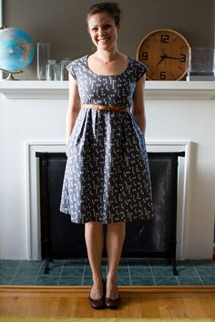 dear stella washi dress by skirt_as_top. I might just have to buy the washi dress pattern after seeing this version! Washi Dress, Diy Dress, Dress Skirt, Dress Up, Diy Clothing, Sewing Clothes, Clothing Patterns, Dress Patterns, Pattern Skirt
