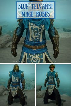 Blue Telvanni Mage Robes, The Elder Scrolls V: Skyrim (Bethesda)