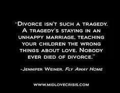 Divorce can be good