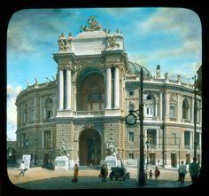 Odessa. Odessa National Academic Theater of Opera and Ballet: front facade :: Branson DeCou Digital Archive 1931 Одеса 1931 року на унікальних кольорових слайдах відомого американського фотографа і мандрівника Branson DeCou
