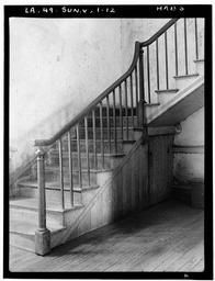 "Chretien Point Plantation, Sunset, St. Landry, LA ~ interior stairway which served as the model for the stairway at Tara in ""Gone With the Wind""."