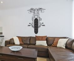 Vinyl Wall Decal Sticker Front of Motorcycle #OS_DC748 | Stickerbrand wall art decals, wall graphics and wall murals.