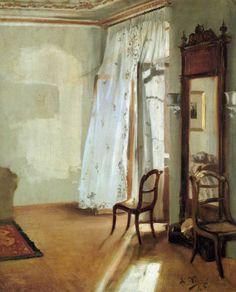 Adolph von Menzel:  Das Balkonzimmer (1845)...#interior
