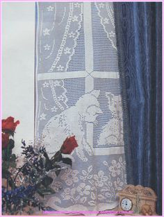 Miria virkar och målningar: CURTAIN fil CROCHET