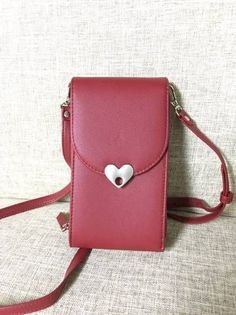 643df7dd06d313 Women Casual Cute Love Shape Button 6 Card Slots PU Leather Phone Bag  Crossbody Bag is Worth Buying - NewChic Mobile