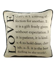 'Love' Throw Pillow