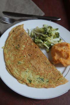 Omelete de Grão de Bico - Faça tudo igual à receita original, mas substitua a farinha de aveia por 2 1/2cs de linhaça moída.
