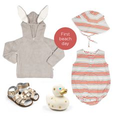 First Beach Day Outfit Beach Day Outfits, Baby Online, Kids Fashion, Christmas Ornaments, Holiday Decor, Accessories, Shopping, Clothes, Outfits