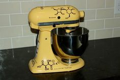 Molecule Graphic for your Kitchen Mixer. $34.95, via Etsy.