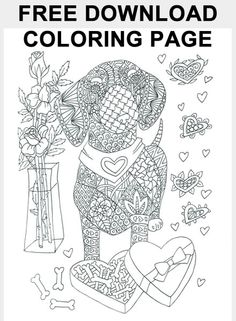 CLICK HERE >> GET your FREE Dachshund Adult Coloring Page Download and be entered to WIN a Dachshund Adult Coloring Book