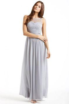 c1406e5b04 Little Mistress Grey Embellished Detail Maxi Dress