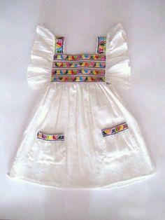 Something for Sophia, maybe? Baby Girl Dress Patterns, Baby Dress Design, Little Girl Dresses, Frock Design, Baby Girl Fashion, Kids Fashion, Womens Fashion, Baby Frocks Designs, Baby Sewing