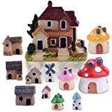 Amazon.com : Miniature Garden Fairy Ornament Hedgehog & Mushroom Set : Patio, Lawn & Garden