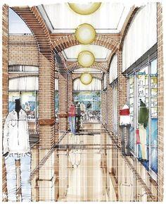 Croquis - o desenho é a linguagem do Designer. www.casaecia.arq.br - Cursos on line - Design de Interiores.