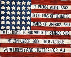 """Now what kind of """"words"""" board would this be without the Pledge of Allegiance?"""