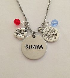 Disney inspired Lilo and Stitch necklace by BellaRayneDesigns