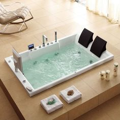 10 Amazing Bathtubs with Built In TVsTwo Person Whirlpool Tub from Jacuzzi   new Aquasoul Double  . 2 Person Whirlpool Tub With Heater. Home Design Ideas