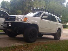 The Toyota Sequoia is a Full-Size SUV Derived from the Popular Tundra and is Lots of Fun to Modify. Here are 10 Lifted Sequoias to Prove it! Toyota Girl, Toyota 4x4, Toyota Tundra, Toyota 4runner, Custom Ford Ranger, Ford Ranger Truck, Sequoia Camping, Toyota Sequioa, Colorado Springs Camping