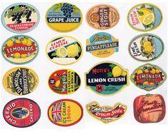 vintage fruit labels