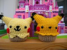 Looking for your next project? You're going to love Amigurumi Pikachu Cupcake Pattern by designer studio_ami.