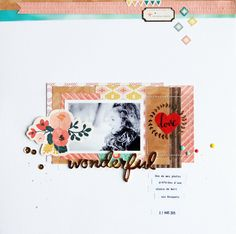 #papercrafting #scrapbook #layout idea: by laeti: WARM COLORS pour Crate Paper