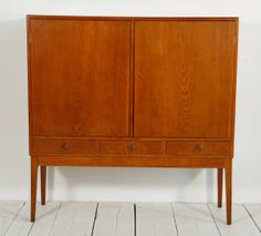 Mid Century Teak Buffet and Cabinet | From a unique collection of antique and modern buffets at http://www.1stdibs.com/furniture/storage-case-pieces/buffets/