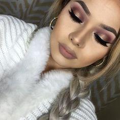 49 Fascinating Winter Make Up Ideas to Copy All Month Long # I Love Makeup, Kiss Makeup, Cute Makeup, Gorgeous Makeup, Pretty Makeup, Makeup Looks, Makeup Tips, Beauty Makeup, Makeup Ideas