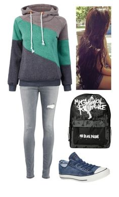 """""""School Day"""" by fashion4life11 ❤ liked on Polyvore featuring Dondup, Converse, women's clothing, women's fashion, women, female, woman, misses and juniors"""