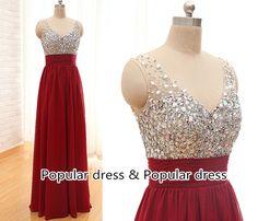 Burgundy Prom DressBurgundy Long Prom Dress custom von populardress