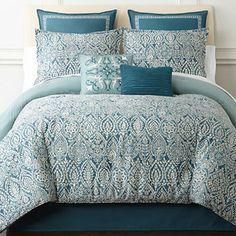 Eva Longoria Home Esme 4 pc Comforter Set JCPenney Oversized King Comforter, King Comforter Sets, Bedding Sets, Teal And Grey, Eva Longoria, Best Pillow, Bed Sizes, Comforters, Master Bedroom