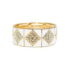 Marlyn Schiff Gatsby Bracelet White $58 @Lilac Bijoux