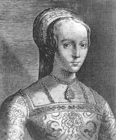 On 10 July 1553 Lady Jane Grey, grand-daughter of Mary Tudor & Charles Brandon, 1st Duke of Suffolk, was proclaimed Queen at the Tower of London. Jane, her husband, Guildford Dudley, Jane's parents & Guildford's mother travelled from Syon to the Tower by barge & as Jane & Guildford processed through the gates of the Tower under a canopy of state they were greeted by a gun salute. Trumpets then hushed the waiting crowd & two heralds proclaimed that Jane was Queen.