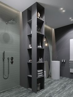 MOPS / Frappuccino house on Behance Bathroom Design Luxury, Bathroom Design Small, Modern Bathroom, Built In Lockers, Liberty House, Toilet Design, Laundry In Bathroom, Washroom, Bathroom Fixtures