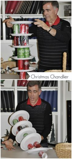 Christmas Chandlier for Minute to Win it perfect for NYE