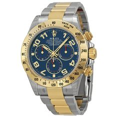 RolexCosmograph Daytona Blue Dial Stainless Steel and 18kt Yellow Gold Men's Watch
