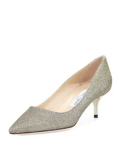 Aza Glitter Fabric Pump, Bronze by Jimmy Choo at Bergdorf Goodman.