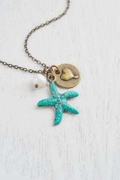 Starfish NecklacePatina Verdigris Starfish Charm by KimFong, $21.00