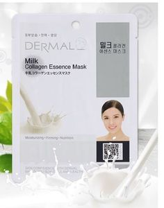 [Dermal]No37.Milk Collagen Essence Face Mask Sheet 23g x14Pcs+1Pcs Free Gift #Dermal #333korea #skincare #beauty #koreacosmetics #cosmetics #oppacosmetics #cosmetic #koreancosmetics #masksheet #maskpack #facemask #facialmask