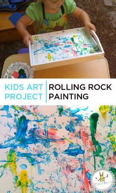 If you're looking for simple kids art projects for toddlers and preschoolers, this fun and engaging rolled paint activity is a winner. Easy Kids Art Projects, Easy Art For Kids, Arts And Crafts Projects, Crafts For Kids, Craft Kids, Diy Crafts, Toddler Crafts, Toddler Activities, Preschool Activities