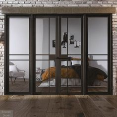 Room Divider Black Greenwich W8 Sliding Glass Door Internal