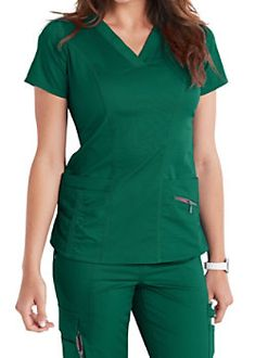 The Beyond Scrubs Ellie v-neck scrub top includes four pockets and plush stretch fabric. Shop for yours at Scrubs & Beyond. Scrub Tops, Princess Seam, Hunter Green, Stretch Fabric, Scrubs, Short Sleeve Dresses, Rompers, V Neck, High Point