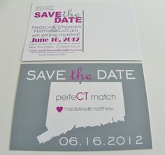 State of Love Save The Date Map Postcards by DefineDesign11, $59.00