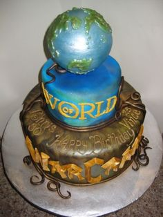 Cake Central user nwelper's World of Warcraft cake is by far one of the most epic themed cakes.