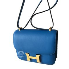 55a02ceadce2 18cm Bleu Hydra Mini Constance Evercolor with Gold Hermes Constance